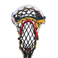 Stick Doctor Lacrosse Mesh Stringing Kit - Rockin' Rasta (Black/Red/Green/Yellow Gold)