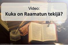 """Noin 40 eri miesten kirjoitti tekstin raamatun, mutta se on nimeltään """"Jumalan sanaksi."""" (1. Tessalonikalaisille 2:13) Miten Jumala antaa hänen ajatuksiaan ihmisille? Katsomalla tämän videon saat.  https://www.jw.org/fi/julkaisut/kirjat/hyv%C3%A4-uutinen-jumalalta/raamatun-hyv%C3%A4-uutinen-on-per%C3%A4isin-jumalalta/video-kuka-on-raamatun-tekij%C3%A4/ (About 40 different men wrote the text of the Bible, but it is called """"The Word of God.""""  How does God give his ideas to people?)"""