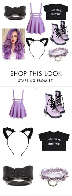 """Pastel Goth Outfit"" by gryffindorgirl-i ❤ liked on Polyvore featuring ASOS, women's clothing, women's fashion, women, female, woman, misses and juniors"