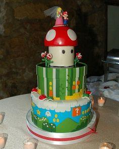 Mario wedding cake... hilarious.