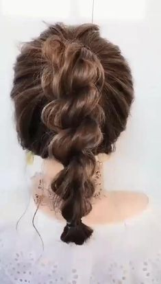 Easy Hairstyles For Long Hair, Twist Hairstyles, Pretty Hairstyles, Hairstyle For Curly Hair, Buns For Long Hair, 1800s Hairstyles, Medium Hair Styles, Curly Hair Styles, Hair Medium