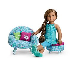 This listing is for a new, hand-painted dresser for your American Girl doll, perfectly themed for Kanani and her AG brand furniture.