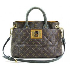 Louis Vuitton Limited Edition Green Quilted Monogram Etoile Exotique MM Tote Bag