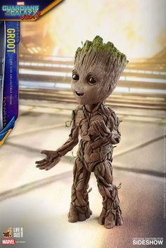 The Hot Toys Groot Life-Size Collectible Figure is now available at Sideshow.com for fans of Marvel, Guardians of the Galaxy vol 2 and Vin Diesel.