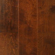 """Show details for Nuvelle Blowing Rock Maple Sierra- 6-1/2"""", Dark brown floor, red floor, handscraped floor, engineered floor, maple hardwood, antiqued floor, vintage floor, floor idea, floor trend, wide plank floor"""