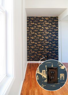 rifler paper co. for hygge & west wallpaper via @yellowbrickhome