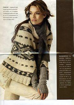 Odd Molly knitted alpacca poncho in Femina Denmark January 2008