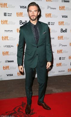 Red carpet king: Dan Stevens proudly promoted his new film The Guest at the 2014 Toronto I...
