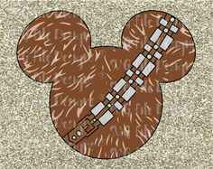 Star Wars Chewbacca Mickey Mouse Ears Disney by SVGFileDesigns
