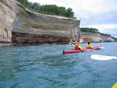 Pictured Rocks is the first officially designated National Lakeshore in the United States