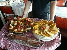 Seafood Paella and Tostones
