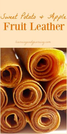 Vegetarian Gluten free Paleo · Fruit leather is a great real food treat that is simple to make. Vegetables can be added, too, like this sweet potato and apple combination! Paleo Fruit, Fruit Snacks, Fruit Recipes, Baby Food Recipes, Healthy Snacks, Snack Recipes, Cooking Recipes, Fruit Leather Recipe, Sweet Potato And Apple