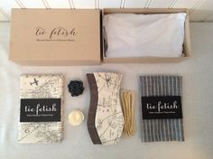 Reversible pilot style bow tie , pocket squares, lapel pin and shoe laces dapper box/ pocket square box by TieFetish on Etsy
