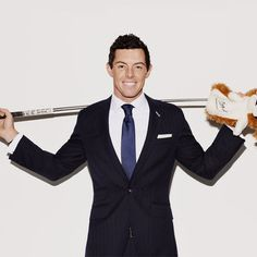 Rory McIlroy, the first golfer to appear on the cover of Men's Health! Looking sharp here in your Alexander Nash ensemble.