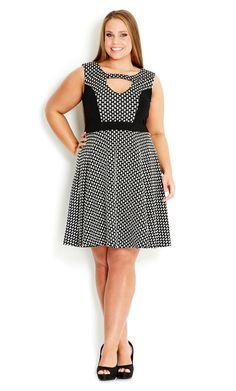 City Chic - GEO DANCER DRESS - Women's plus size fashion