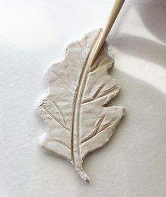Create a fall-inspired paper clay leaf