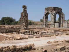 Para finalizar el día, os invitamos a pasear por los interesantes restos de la ciudad romana de Cáparra.
