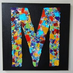 Teen Programs - Art Programs for Libraries Mosaic Tile Art, Mosaic Crafts, Teen Programs, Art Programs, Diy Art Projects Canvas, Mosaics For Kids, Canvas Letters, Canvas Paper, Library Art