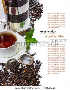 Tea And Tea Accessories On A Background Of Antique Furniture Stock Photo 100148447 : Shutterstock