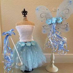 Blue Fairy Costume Blue Tutu Blue Princess Dress by partiesandfun