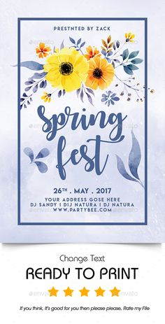 Spring Festival Poster Template Click To Customize  Spring