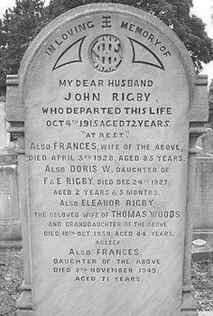 Eleanor Rigby's grave.