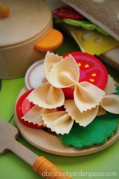 Felt Food Craft Tutorial Bow Tie Pasta