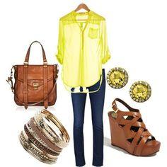 me encanta el amarillo combinado con cafe =)