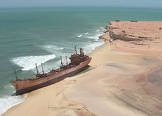 Largest Ship Graveyard in the World: Nouadhibou, Mauritania Abandoned Ships, Abandoned Places, Derelict Places, Yachting Club, Ship Breaking, Ghost Ship, Old Boats, Shipwreck, Water Crafts