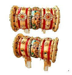 Rajasthani Rajwadi Bangle set: Lac /Plastic/boor (like lac) wedding chura, dulhan chura, rajasthani chura, bridal chura, rajastrhani wedding chura Rajasthani Rajwadi Bangle set designs Wedding Chura, Saree Wedding, Bridal Jewelry Vintage, Wedding Jewelry, Bridal Jewellery, Christian Wedding Sarees, Bride Reception Dresses, Engagement Mehndi Designs, Bridal Chuda