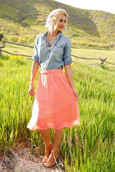 Classic Polka Dot Skirt! | Jane