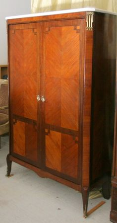 And here we are, an actual Gentleman's Wardrobe (French Empire). Everything about this cabinet is perfect.