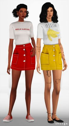 URBAN OUTFITTERS Denim Skirt for The Sims 4