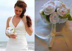 Patrones Crochet: Ramo flores de novia en crochet paso a paso