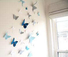 butterflies - for WPP in March in gym (I like the way they lift off the wall)