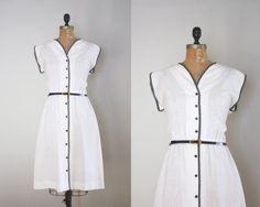 70's linen dress