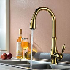 Splendid High Arc Swirling Dual-Mode Pull-Down Kitchen Faucet with ...