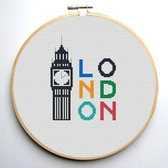 0,99 $ London Cross Stitch Pattern | Craftsy