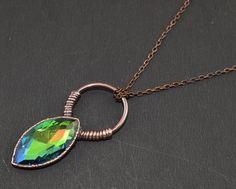 1 Pc Mystic Quartz Hydro Electroformed Handmade Soldered Bezel Pendant Chain #Leejewelcreations #Pendant