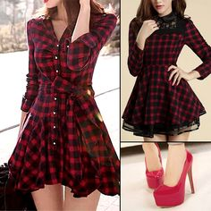 este es un vestido coreano me encanta porque tiene corte A y ajuste perfecto en la cintura