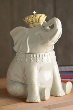 Ceramic Elephant Cookie Jar