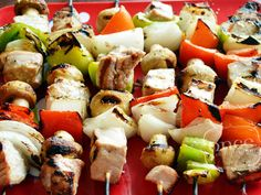 Try out something new on the grill this weekend with this freezer recipe for Grilled Tuna Kebabs in a delicious rosemary garlic marinade. Greek Chicken Kebabs, Chicken Kabobs, Shrimp Kabobs, Kabob Recipes, Tuna Recipes, Salmon Recipes, Camping Recipes, Grilling Recipes, Chicken Recipes