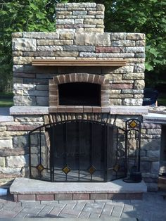 CAPOW's Outdoor Office.....Outdoor Fireplace and Outdoor Pizza Oven!!!