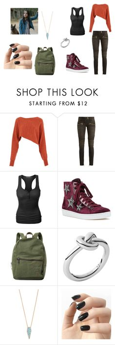 """""""Felicia"""" by bruna-rogers ❤ liked on Polyvore featuring Crea Concept, Balmain, LE3NO, Lola Cruz, Herschel Supply Co., Michael Kors and Incoco"""