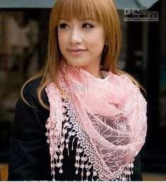 Wholesale Women's Silk Scarves Lace scarf Lace triangular Shawls Scarves, Free shipping, $3.14-3.73/Piece | DHgate