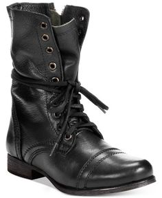 9063ea8e30e The Steve Madden Troopa Boots march to their own beat with the  vintage-inspired styling