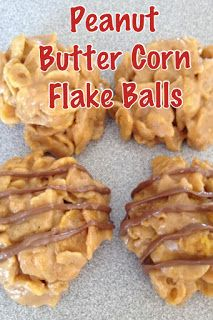 Peanut Butter Corn Flake Balls…making tonight! Peanut Butter Corn Flake Balls…making tonight! Köstliche Desserts, Delicious Desserts, Dessert Recipes, Yummy Food, Holiday Desserts, Sweet Desserts, Holiday Treats, Yummy Treats, Sweet Treats