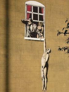 stencil Banksy_lovers