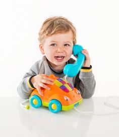 Buzzing Brains Pull Along Phone | Kiddicare