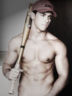 baseball guys ;) I don't know who this lovely creature is, but that is a-okay;)